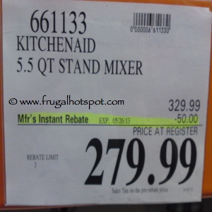 KitchenAid 5.5 Quart Stand Mixer Costco Price