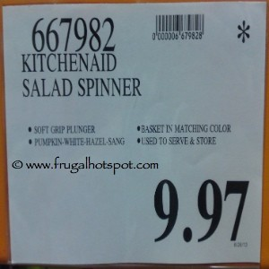 KitchenAid Salad Spinner Costco Price