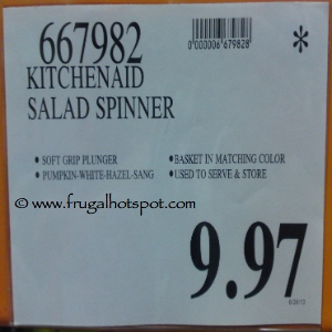 KitchenAid Salad Spinner | Costco Sale Price