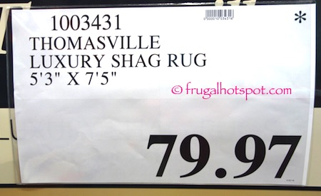 Thomasville Luxury Shag Rug Costco Price | Frugal Hotspot