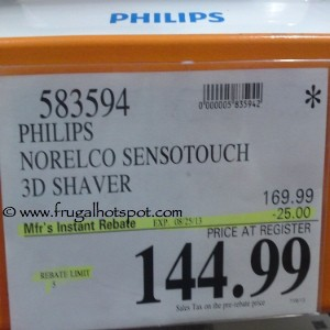 Philips Norelco SensoTouch 3D Shaver Costco Price