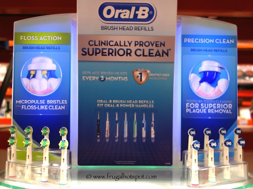 Oral-B Floss Action Replacement Brush Heads 8-Pack Costco