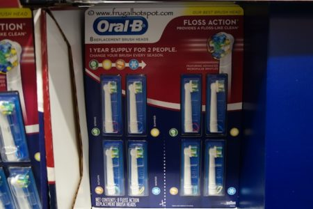Oral B Replacement Brush Head 8 pack at Costco