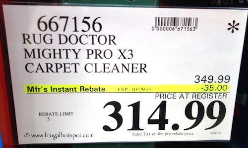 Rug Doctor Mighty Pro X3 Carpet Cleaner Costco Price