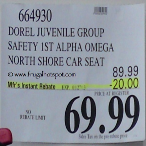 Safety 1st Alpha Omega Elite Car Seat Costco Price