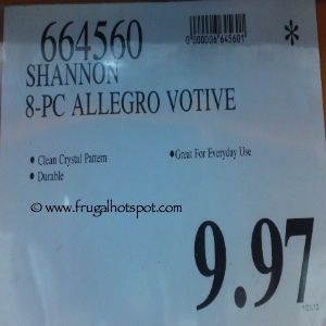 Shannon 8 Piece Allegro Votive Costco Price