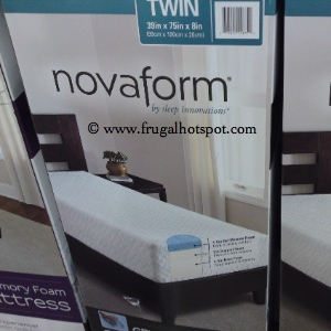 Sleep Innovations Novaform Twin Gel Memory Foam Mattress