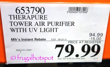 Envion Therapure UV Germicidal Air Purifier with UV Light (TPP540) Costco Price | Frugal Hotspot