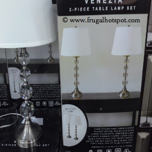 Costco deal venezia 2 piece table lamp set 4999 frugal hotspot venezia crystal lamps set of 2 aloadofball Image collections