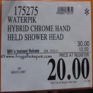 Waterpik Hybrid Chrome Shower Head Costco Price