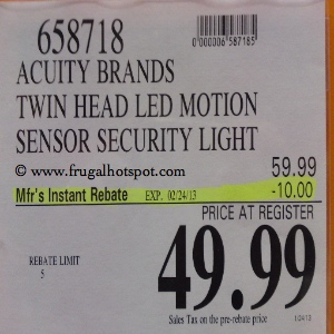 Acuity Brands Lithonia Light Twin Head LED Motion Sensor Security Light Costco Price
