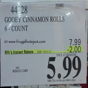 Costco Gooey Cinnamon Rolls Price