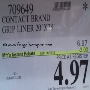 Contact Brand Grip Liner Costco Price