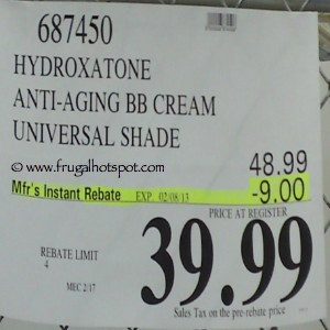 Hydroxatone Anti Aging BB Cream Universal Shade Costco Price