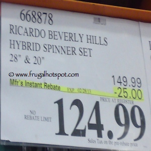 Ricardo Beverly Hills Hybrid Spinner Set | Costco  Sale Price