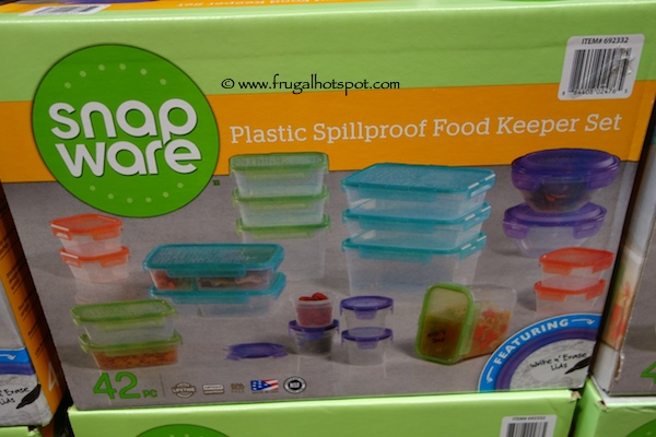 costco deal snapware 42 piece plastic food keeper set frugal hotspot. Black Bedroom Furniture Sets. Home Design Ideas