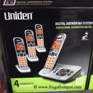 Uniden DECT 6.0 D1680-4 4-Handset Phone & Digital Answering System   Costco