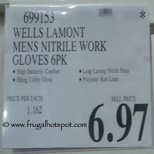 Wells Lamont Mens Nitrile Work Gloves Costco Price