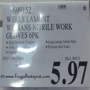 Wells Lamont Womens Nitrile Work Gloves Costco Price