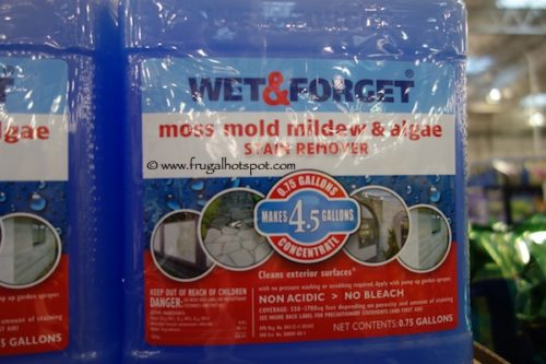Wet & Forget Moss Mold Mildew Algae and Stain Remover at Costco
