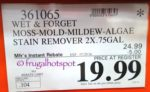 Costco Sale Price: Wet & Forget Moss Mold Mildew Algae and Stain Remover