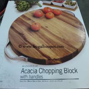Mangoleaf Acacia Chopping Block with handles
