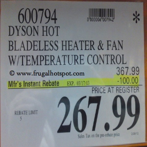 Dyson Hot + Cool Heater Fan Costco Price