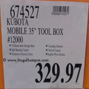 Kubota Mobile Tool Chest | Costco Price