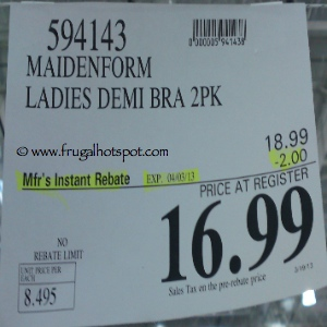Maidenform One Fab Fit Microfiber T-Shirt Bra Costco Price