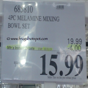 4 Piece Melamine Mixing Bowl Set With Lids Costco Price