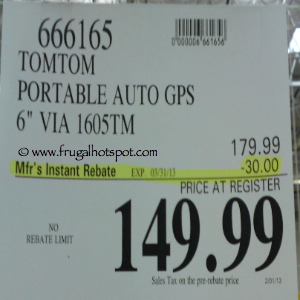 TomTom 1605TM GPS Costco Price