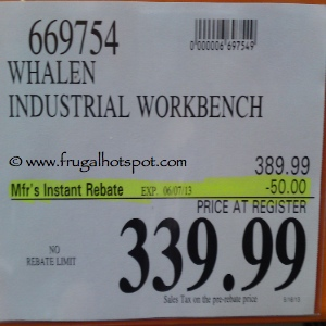 Whalen Industrial Workbench Costco Price
