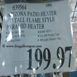 Arizona Pyramid patio Heater Costco Price