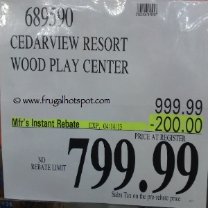 Cedar Summit Cedarview Premium Playset Costco Price