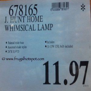 J Hunt Home Juvenile Whimsical Lamp Costco Price