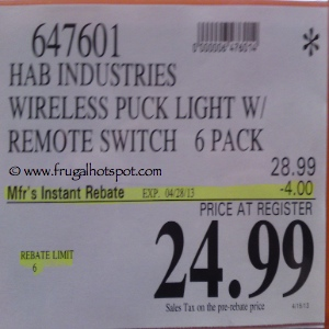 Lightmates LED Wireless Puck Light with Remote Costco price