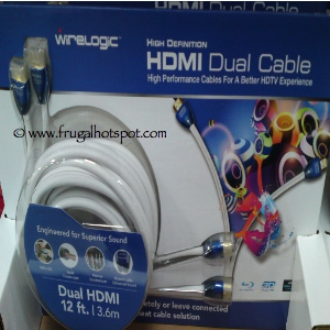 Wirelogic HDTV HDMI Cables 12 Ft