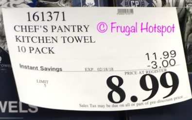 Costco Sale Price: Chef's Pantry Kitchen Towel Set 10-Pack