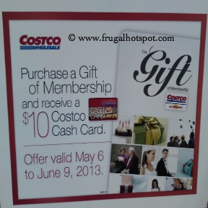 $10 Costco Cash Card with Purchase of Gift Membership