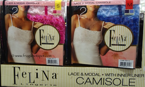 Felina Lingerie Lace & Modal Camisole 2-Pack Costco