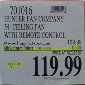 Hunter Ceiling Fan Westhaven Costco Price