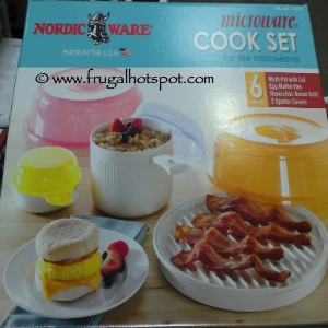 NordicWare Microware 6 Piece Cook Set for the Microwave
