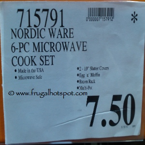 NordicWare Microware 6 Piece Cook Set for the Microwave Costco Price