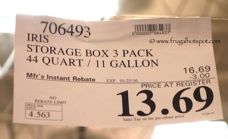 Iris Storage Box 45 Quart 3-Pack Costco Price