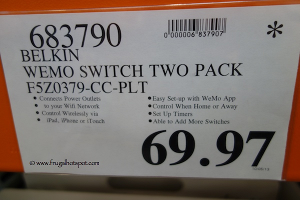 Belkin Wemo Switch 2-Pack Costco Price