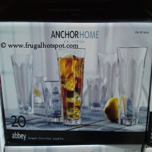 AnchorHome Collections 20 Piece Abbey Drinkware Set | Costco