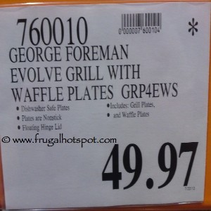 George Foreman Evolve Grill Costco Price