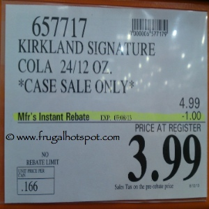 Kirkland Signature Cola Costco Price