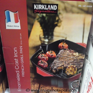 "Kirkland Signature 12"" Cast Iron French Grill Pan"