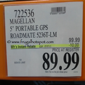 Magellan GPS Roadmate 5236T-LM Costco Price